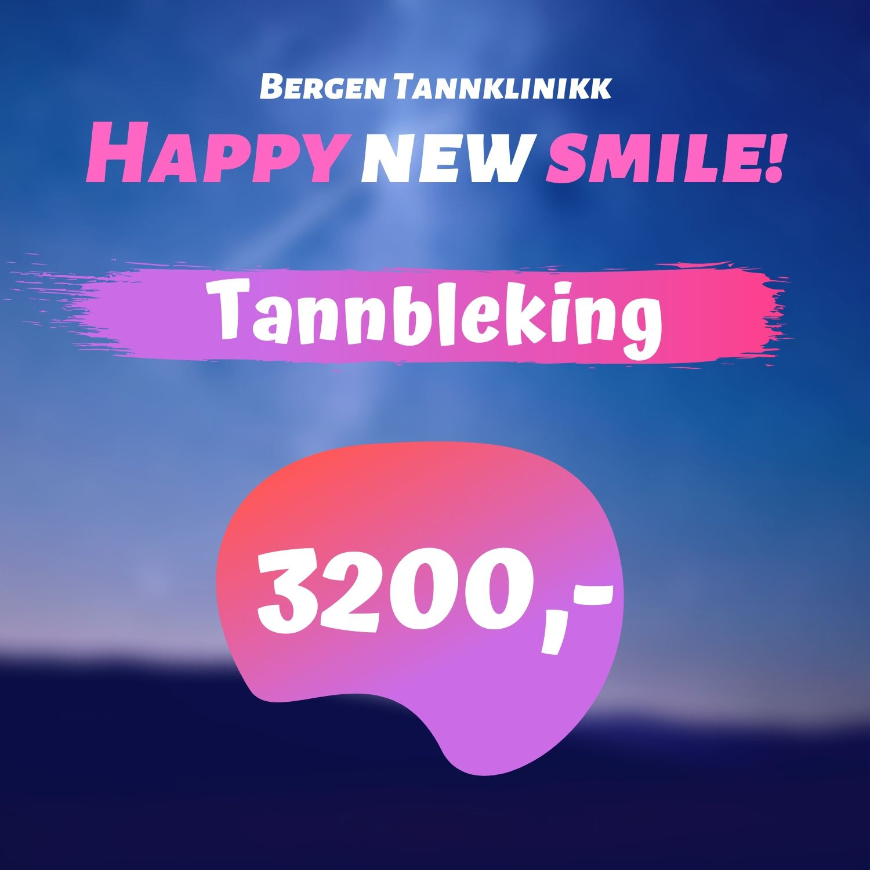 Tannbleking kr3200